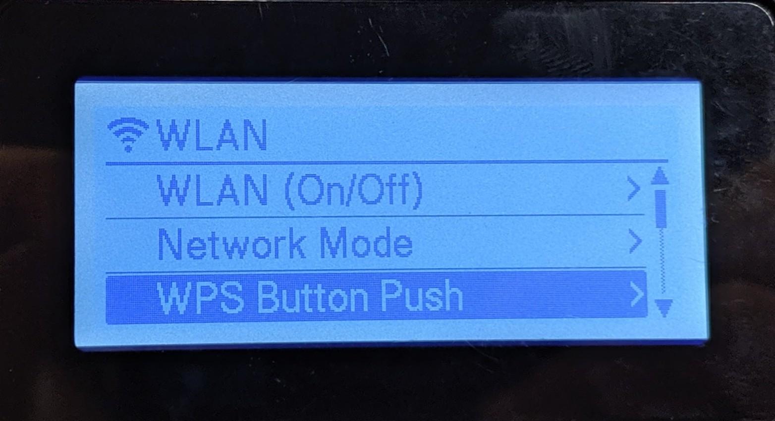 WPS Button Push